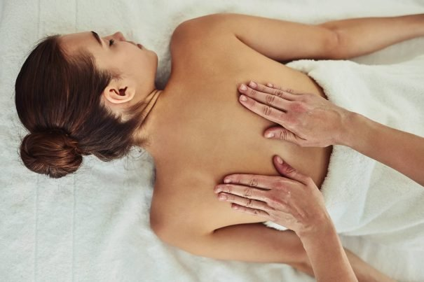 Woman getting massage, get mojo back