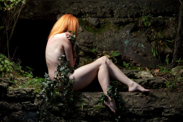 Art Nude Wrapped In Vines