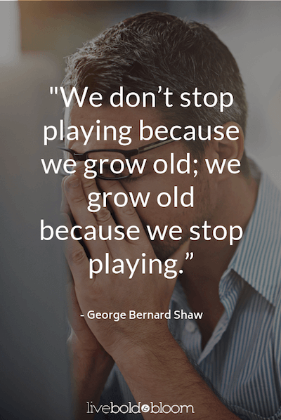 George Bernard Shaw quote having fun