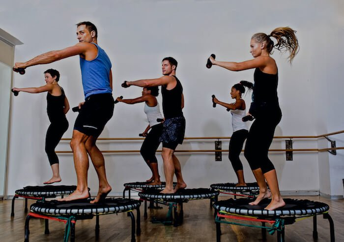 group exercise benefits of rebounding