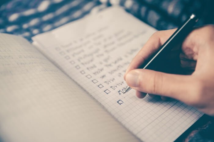 writing a todo list List Of Habits