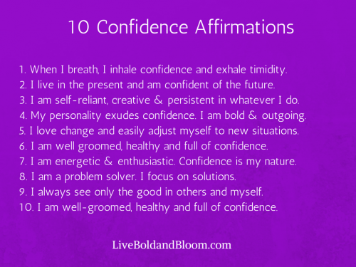 confidence affirmations