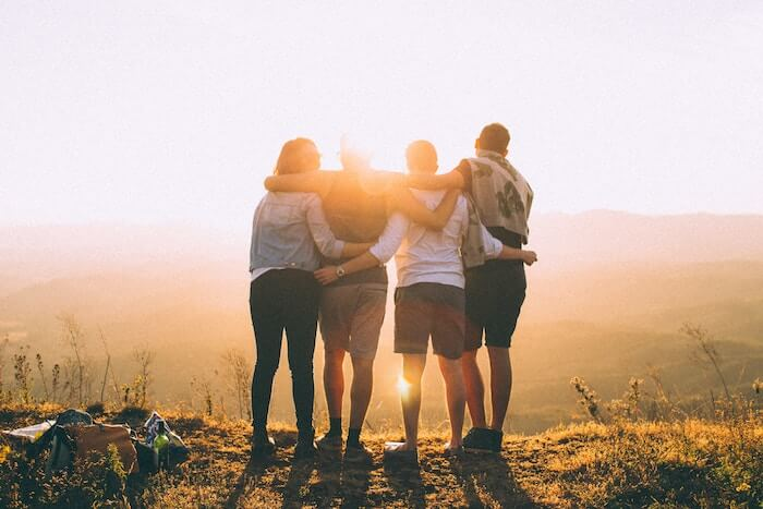 four friends in mountains list of core values