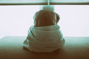 woman kneeling, overcoming shame