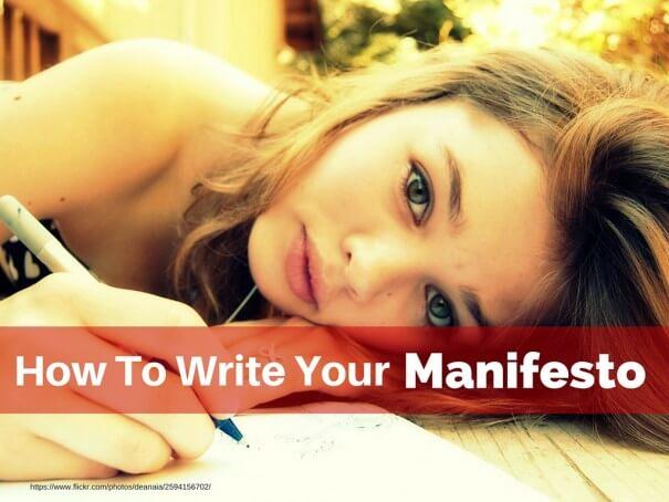 How to Write Your Manifesto