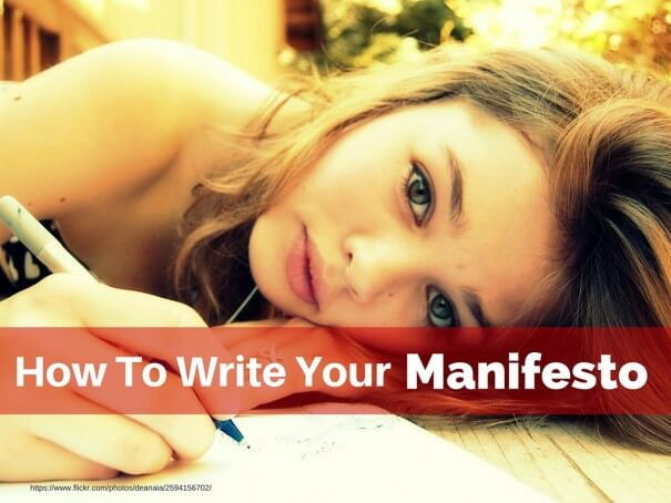 How to Write Your Manifesto