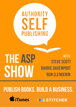 Join the podcast, Mondays and Thursdays to build a business around your books.