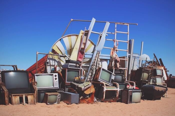 pile of old junk outside How To Let Go Things Go