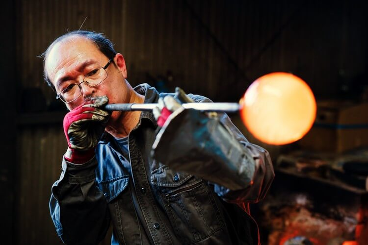 man-blowing-glass find your passion