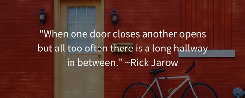 bicycle leaning against red wall career quotes