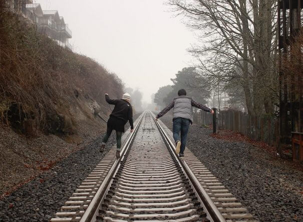 walking down railroad long distance relationship
