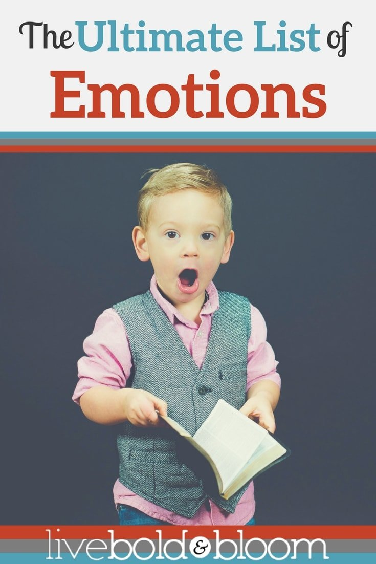 Read the ultimate list of emotions. You will be surprised at the number of emotions that we can all experience as human beings.