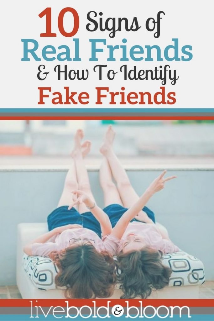 Sometimes it's hard to know if a friend is sincere and trustworthy. It's helpful to know the signs of fake friends vs. real friends.
