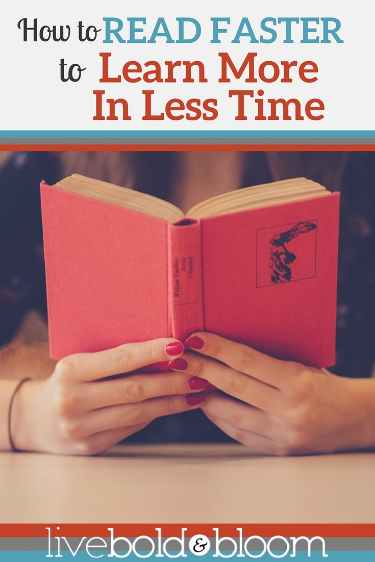 Want to read faster? In this post I show you how to read faster in less time.