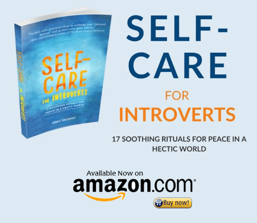 amazon button for self-care for introverts book cover