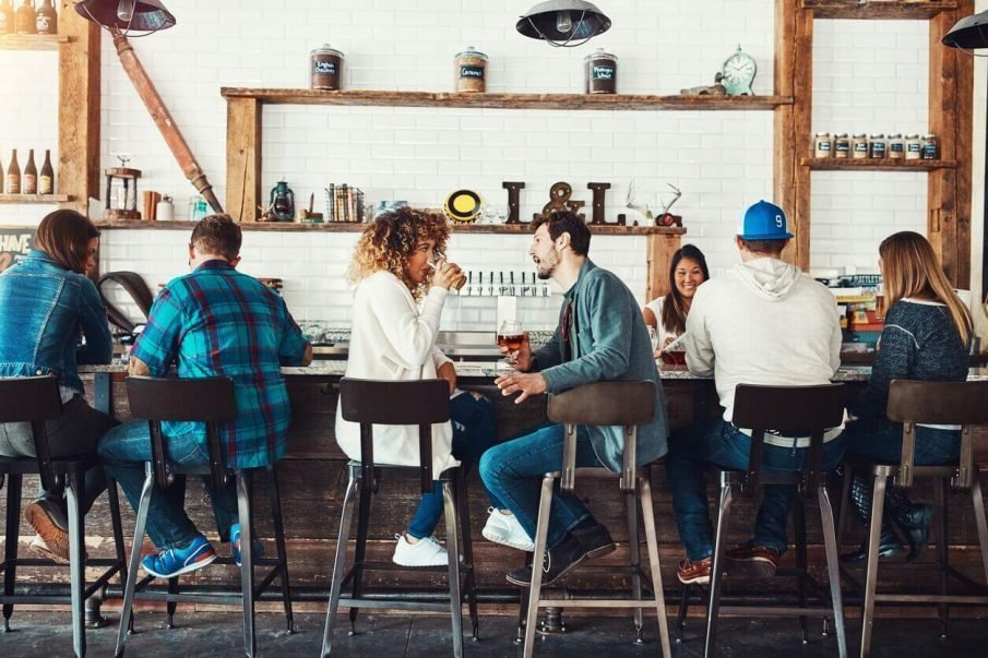 couple talking at bar, things to talk about