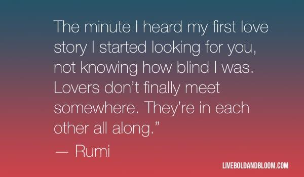 rumi quote soulmate quotes