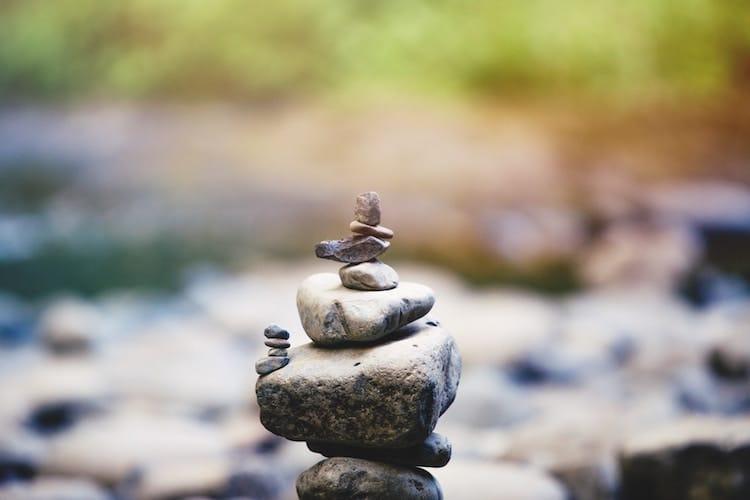 stacked rocks meditation