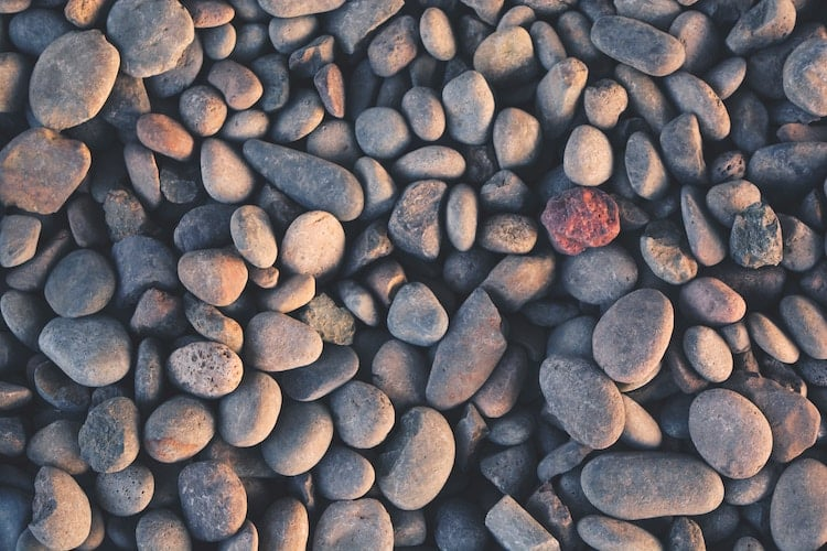 smooth stones on beach meditation types
