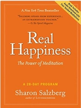 book cover real-happiness meditation book