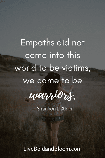 girl walking, empath traits