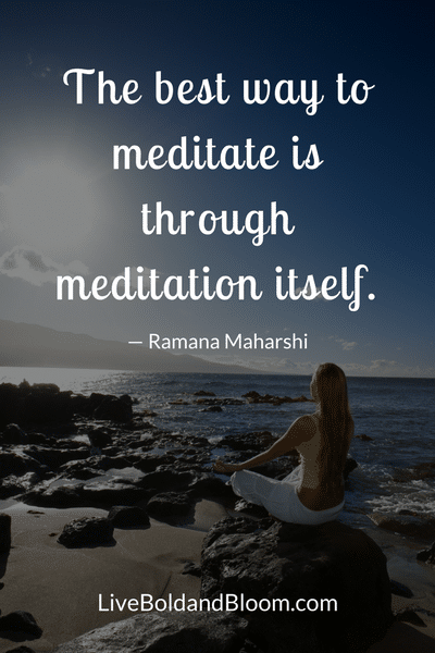 Woman Meditating, Meditation Quotes