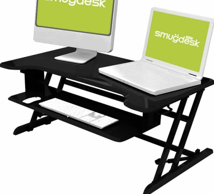 standing desk dual monitor