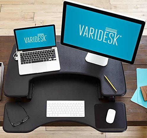 varidesk on office desk