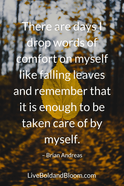 Leaf, self-love quotes