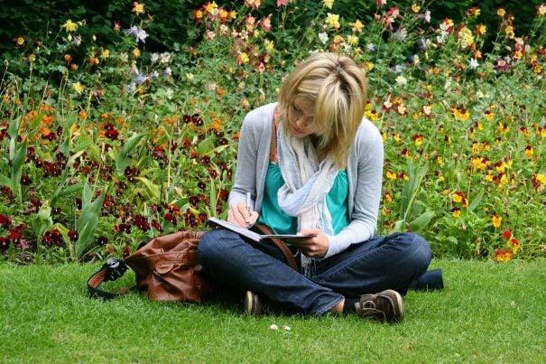 woman writing, type C personality