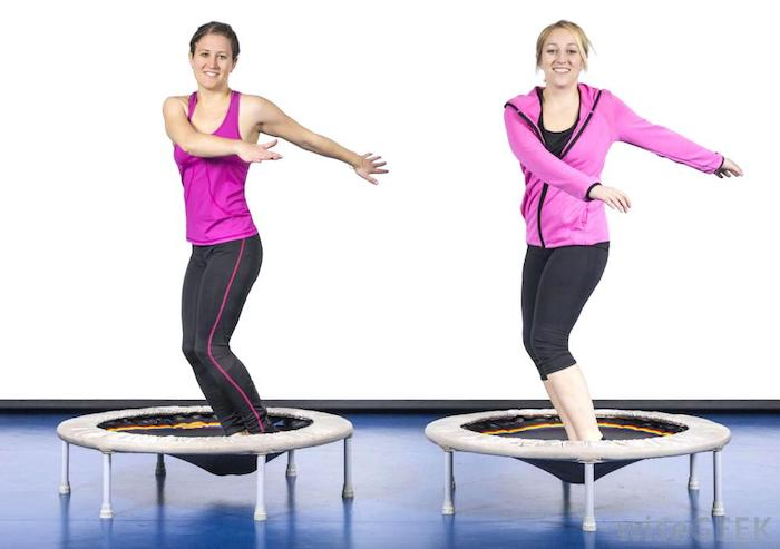 two women exercising on rebounder benefits of rebounding