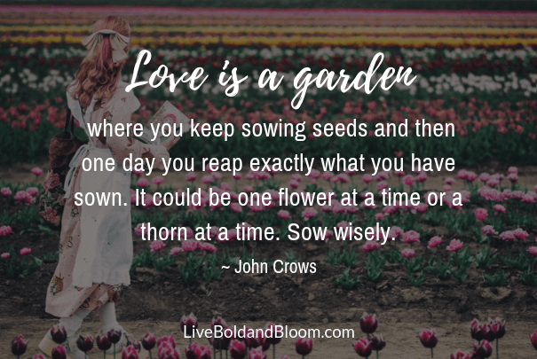 Girl in garden, deep quotes