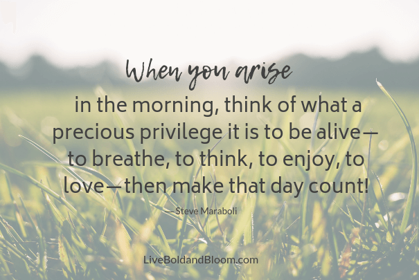 morning dew, words of gratitude
