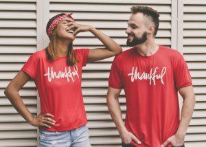 thankful couple, words of gratitude
