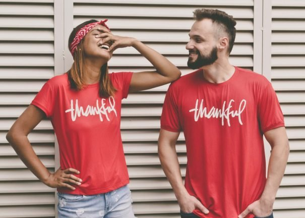 thankful couple, words of gratitude