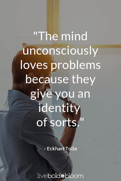 man by window thinking Eckhart Tolle Quotes