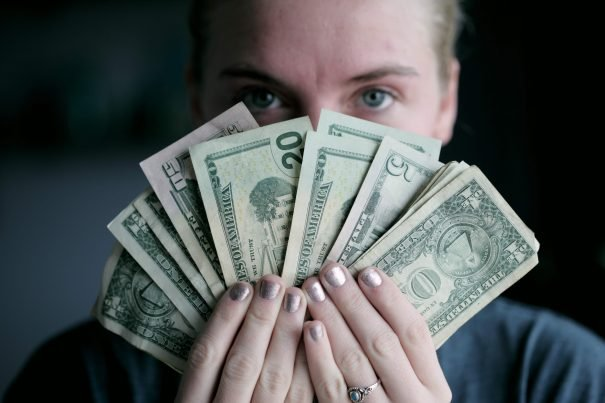 woman with money, money quotes