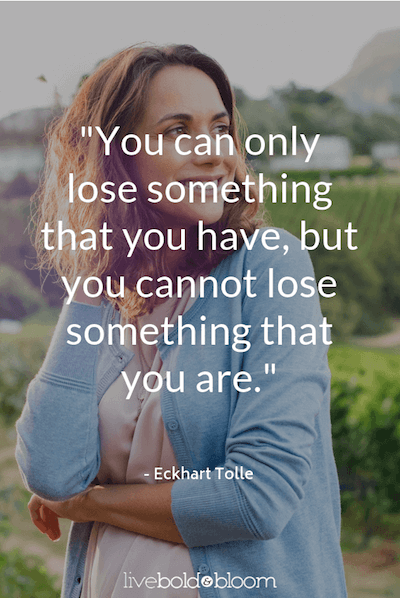 woman outdoors smiling Eckhart Tolle Quotes
