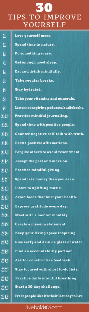 Infographic 30 Tips To Improve Yourself