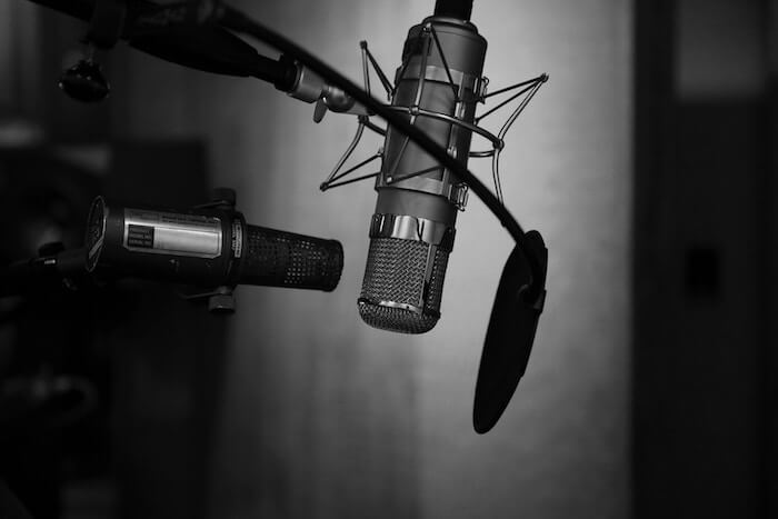 microphone in recording studio self-improvement