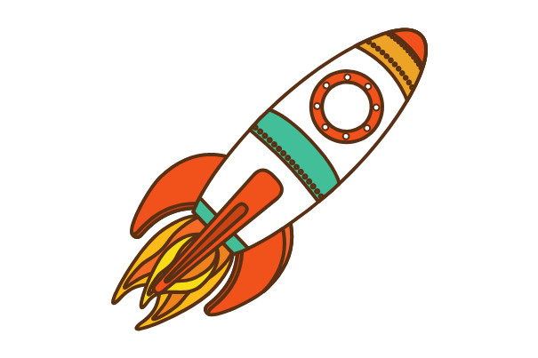 spaceship, easy things to draw