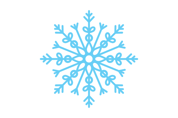 snowflake, easy things to draw
