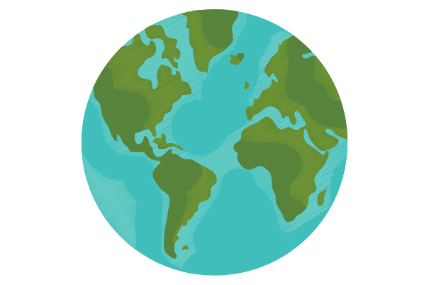 earth, easy things to draw