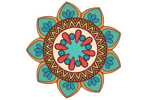 mandala, easy things to draw