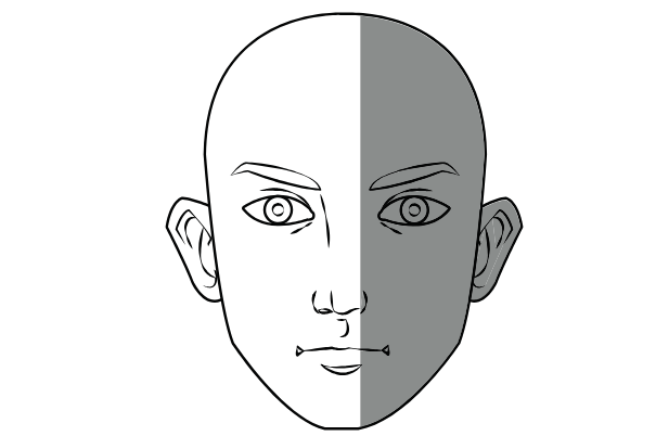face outline, easy things to draw