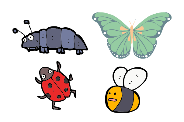 insects, easy things to draw