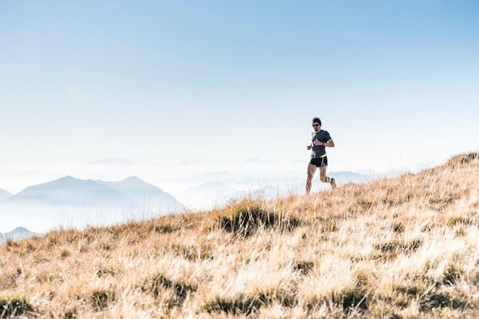 man running on hillside Self-Care Quotes