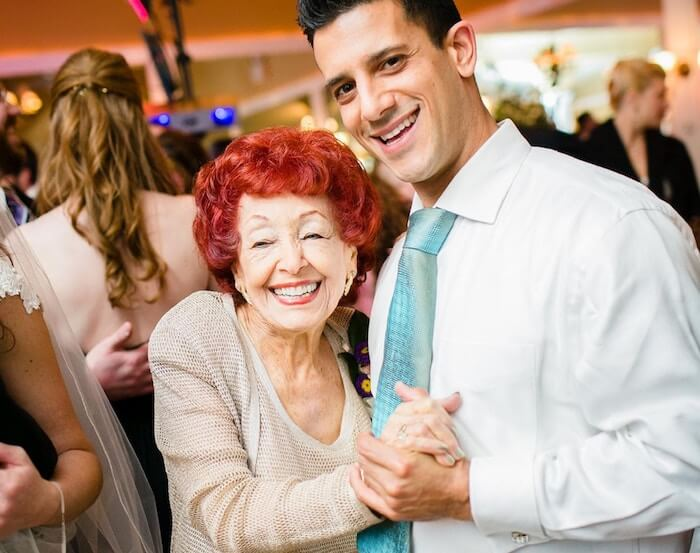 older woman dancing with younger male what is respect