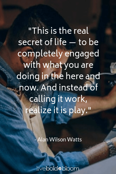 Alan Wilson Watts quote inspirational quotes for work