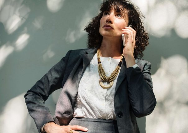 woman on phone, how to end a conversation